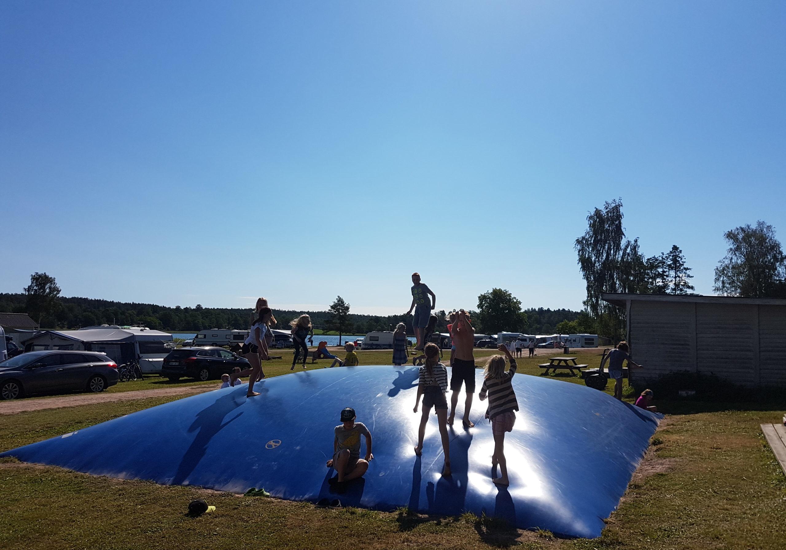 Hoppkudde på KustCamp Gamleby